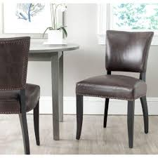 100 Black Leather Side Dining Chairs Safavieh Desa Antique Brown And Bicast Chair Set