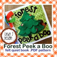 forest peek a boo felt quiet book pdf pattern