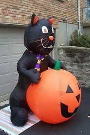 Inflatable Halloween Cat Archway by Gemmy Prototype Airblown Inflatable Halloween Animated Turn Head