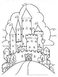 Princess Castle Coloring Page For All Of You
