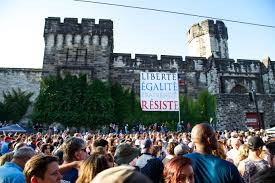 Eastern State Penitentiary Halloween 2017 by Signs Of Solidarity Drops U0027resist U0027 Banner At Eastern State