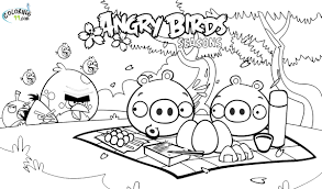 Angry Bird Coloring Pages Free Printable
