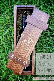DIY Wedding Wine Box Small Woodworking ProjectsWoodworking Gift