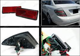 08 11 mercedes w204 c class smoked lens led lights