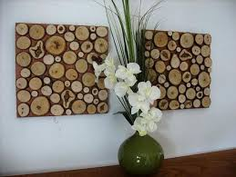 Beautiful Diy Rustic Wall Art Ideas Flowers White Clover Green Ceramics Vase Lumber Double Wooden Canvas