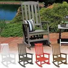 100 Wooden Outdoor Rocking Chairs Sunnydaze AllWeather Faux Wood Chair