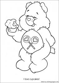 Easy Preschool Printable Of Care Bear Coloring Pages Qov5f