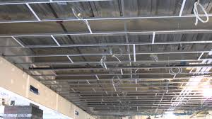 Armstrong Suspended Ceiling Grid by Stac Clip Staggered Grid Layout Youtube