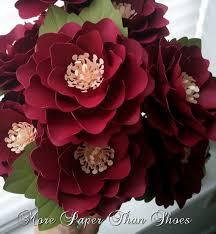 Handmade Paper Flowers Elizabeth Rose Wedding DIY Bouquet