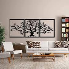 baum des lebens metall baum wanddeko metall stammbaum wanddekoration 3d metallskulptur wanddekoration für zuhause büro schlafzimmer wohnzimmer außen