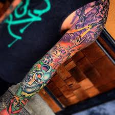 Amazing Colourful Tattoo Sleeve