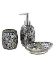 Mercury Glass Bathroom Accessories by Glass Bathroom Pump Soap Dispensers Ebay