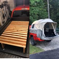 100 Kodiak Truck Tent I Built Raised Twin Bed Frame For My Canvas Tent Hoping It