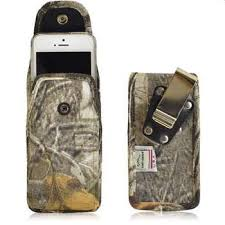 Turtleback Camouflage Vertical Heavy Duty Pouch Snap Closure Size 3XL