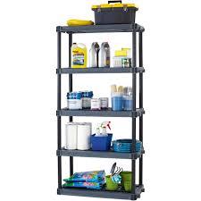 WorkChoice 5 Shelf Heavy Duty Plastic Storage Unit Black