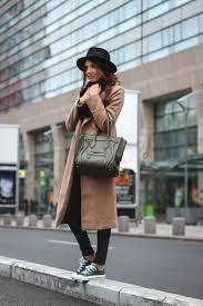 Try Wearing A Long Coat With Skinny Black Jeans And Converse Like Larisa Costea