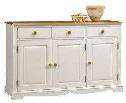 meuble bas cuisine 120 buffet blanc et miel 3 portes 3 tiroirs beaux meubles pas chers