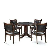 Mahogany Dining Room Set 5 Piece Rustic Game Table Chairs Ebay