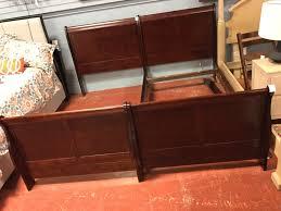 PAIR Acme Furniture Mahogany Twin Bed