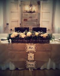 Head Table Backdrop Of Vintage Doors And Chandelier With Burlap Overlays Custom Made Decor WeddingRustic