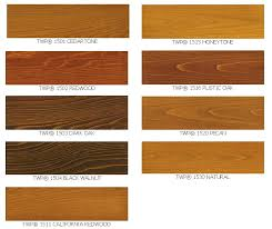 twp wood stain sles colors 1500 series and 100 series