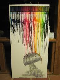 Lted Crayons With Umbrella Drawing
