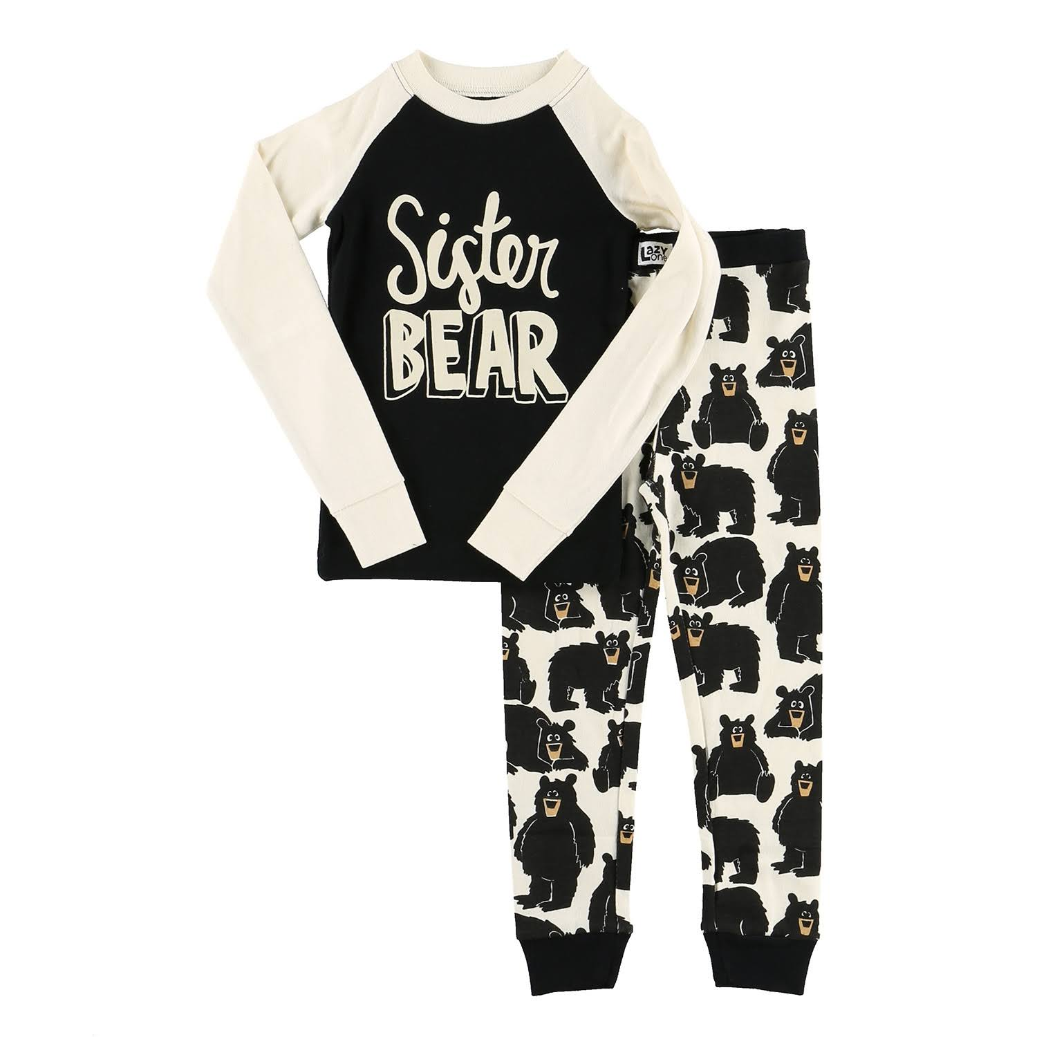 Lazy One Sister Bear Long Sleeve PJ Set