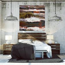 Brown Beige Red Black White And Rust Modern Canvas Prints