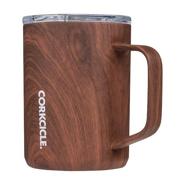 Corkcicle 16 oz Mug-Walnut Wood