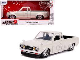 100 Datsun Truck Pickup Beige JDM Tuners 124 Diecast Model Car By Jada