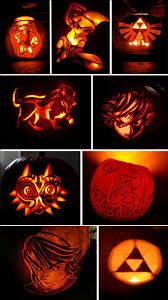 Ariel On Rock Pumpkin Carving Pattern by Just In Time For Halloween Zelda Themed Pumpkin Carvings I