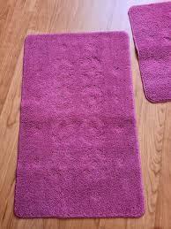 2tgl set badgarnitur badezimmer teppich pink