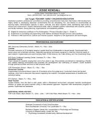 Teaching Resume Sample Job Elementary School Teacher Free High