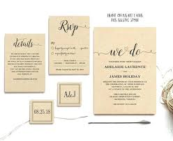 Printable Rustic Wedding Invitations Invites And Invitation Template 5 Piece