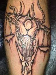 Taurus Head Libra Tattoo Zodiac Sign For Leg