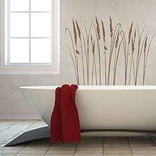 denoda gräser wandtattoo grau 32 x 25 cm wandsticker wanddekoration wohndeko wohnzimmer kinderzimmer schlafzimmer wand aufkleber