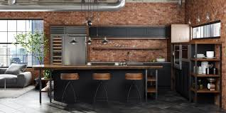 Industrial Style Loft Kitchen Design With Dura Supreme Cabinetry