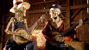 Grandin Road Halloween Haven by Dueling Animated Banjo Skeletons Grandin Road Youtube