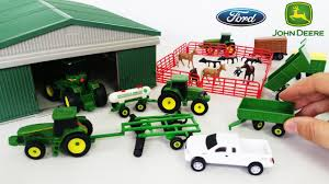 100 Toy Grain Trucks John Deere Playset With Farm Animals Metal Shed