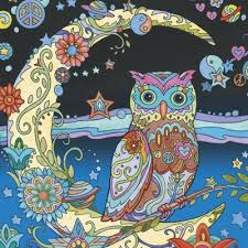 Owls Marjorie Sarnat Best Coloring Books For Adults 07