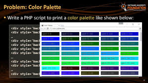 12 Write A PHP Script To Print Color