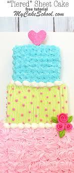 Tiered Sheet Cake Free Cake Tutorial
