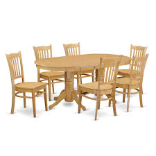 Amazon.com: VAGR7-OAK-W 7 PC Dining Room Set - Kitchen ... Sunset Trading Co Selections Round Dinette Table Winners Only Quails Run 5 Piece Pedestal And 42 Ding With 4 Side Chairs Shown In Rustic Hickory Brown Maple An Asbury Finish Oak Set Rustica 54 W What I Want For My Kitchena Small Round Pedestal Table Archivist Crown Mark Camelia Espresso Glass Top Family Wood Kitchen Room Breakfast Fniture Modern Unique Sets Design Models New Traditional Cophagen 3piece Cinnamon