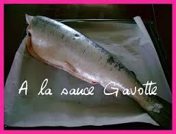 comment cuisiner du saumon surgelé saumon entier au four ou autres poissons a la sauce gavotte