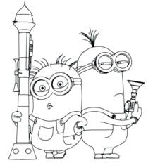 Minions Color Pages Free Coloring Kids Minion Printable Happy Birthday Despicable Me 2 To Print