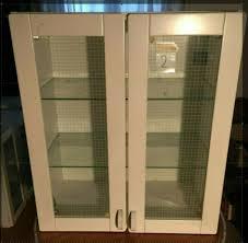 küchenhängeschrank ikea weiß glastüren und böden 70x60x30 2v5