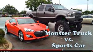 Lifted Truck Vs Sports Car | Ft. 2013 Hyundai Genesis Coupe ...