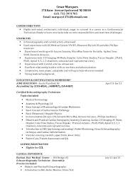 Technical Resume Examples Cardiovascular Tech Marques Avenue Cell 3975 Email Technology 2016