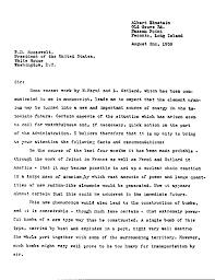 Einstein s Letter to President Roosevelt