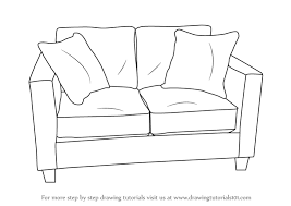 How To Draw Love Seats Sofa